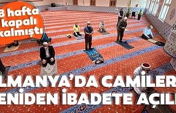 Almanya, 8 haftadır kapalı tuttuğu camileri ibadete açtı