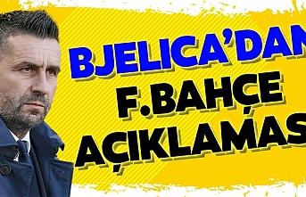 Bjelica, Fenerbahçe büyük bir kulüp 'Ali Koç ile üç kere görüştüm'