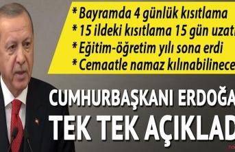 Cumhurbaşkanı Erdoğan : Ramazan bayramında 81 ilimizde sokağa çıkma yasağı uygulanacaktır