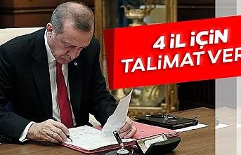 Cumhurbaşkanı Erdoğan 4 il için kararı verdi, Bazı bölgeler tescilleniyor!