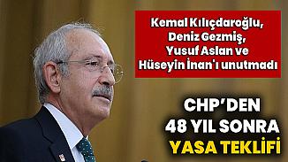 Deniz Gezmiş ve arkadaşlarının 48. ölüm yıldönümlerinde CHP Liderinden 3 fidan mesajı
