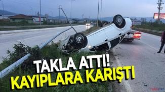 Düzce'de kaza sürücü aracı bırakıp kaçtı!