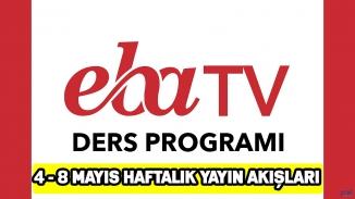 EBA TV yayın akışı ilkokul,ortaokul ve lise dersleri ve tekrar ders saatleri 8 Mayıs Cuma