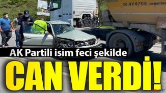Feci kaza! Hafriyat kamyonu ile araç çarpıştı!