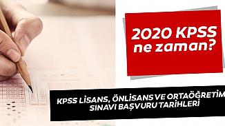 KPSS 2020 lisans ön lisans başvurularında son durum! Başvuru tarihi ne zaman?
