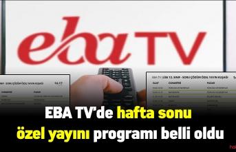 LGS ve YKS'ye hazırlanan öğrenciler dikkat! EBA TV'de hafta sonu özel yayını programı belli oldu