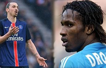 Ligue 1'de yapılan ankette İbrahimoviç'i geçerek en iyi forvet Didier Drogba seçildi
