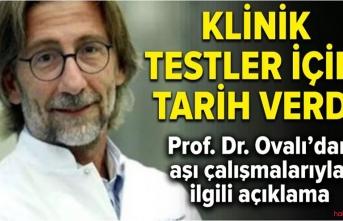 Prof. Dr. Ercüment Ovalı ve ekibi aşı için Eylül'ü işaret etti