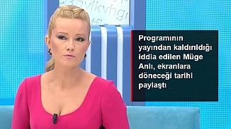Programının yayından kaldırıldığı iddia edilen  Müge Anlı geri döneceği tarihi açıkladı!