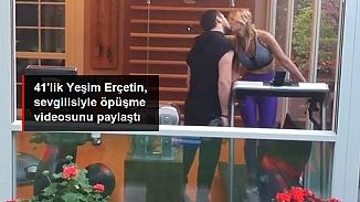 Ünlü şarkıcı Yeşim Erçetin sevgilisiyle öpüşürken...