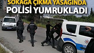 Yasağı delerek gezintiye çıkan şahıslar polisleri darp etti