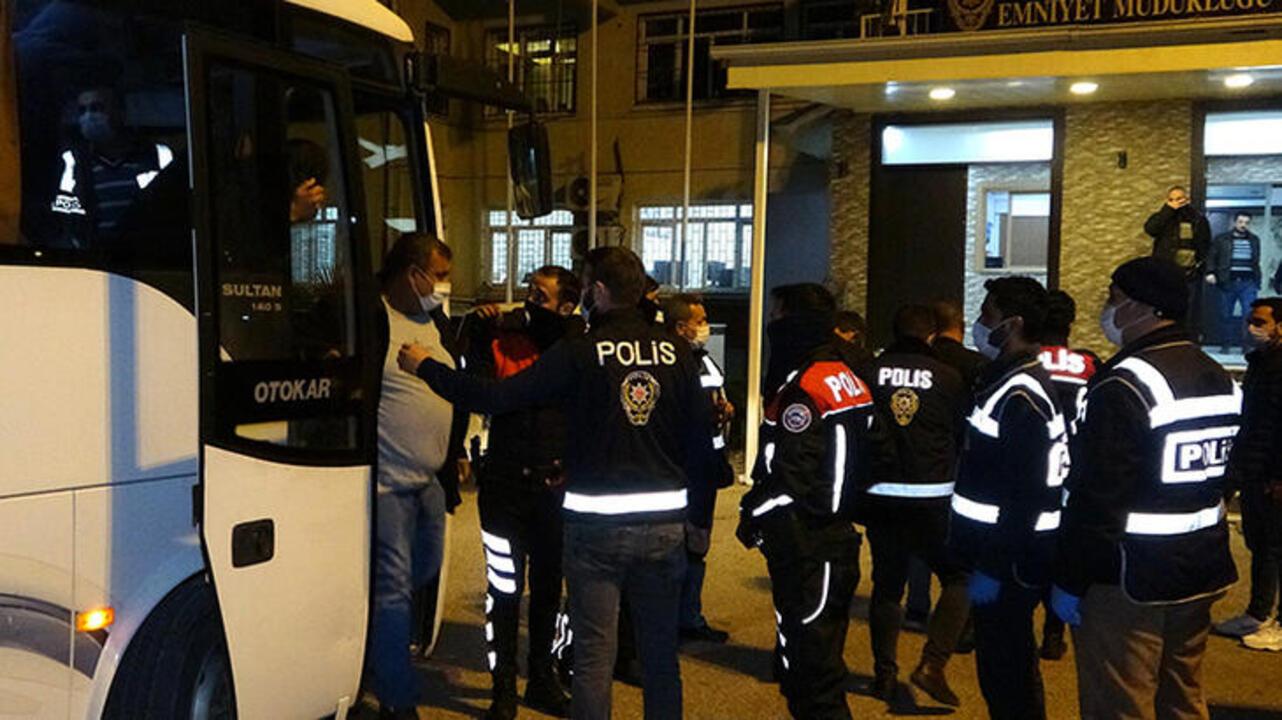 Eğlence merkezine çevirilen yardımlaşma derneğine polis baskını!