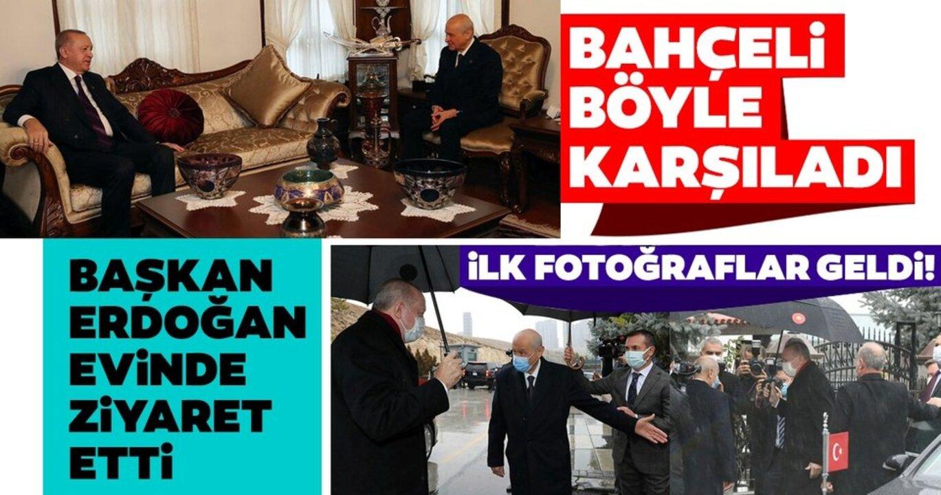 Cumhurbaşkanı Erdoğan, Devlet Bahçeli'yi ziyaret etti!