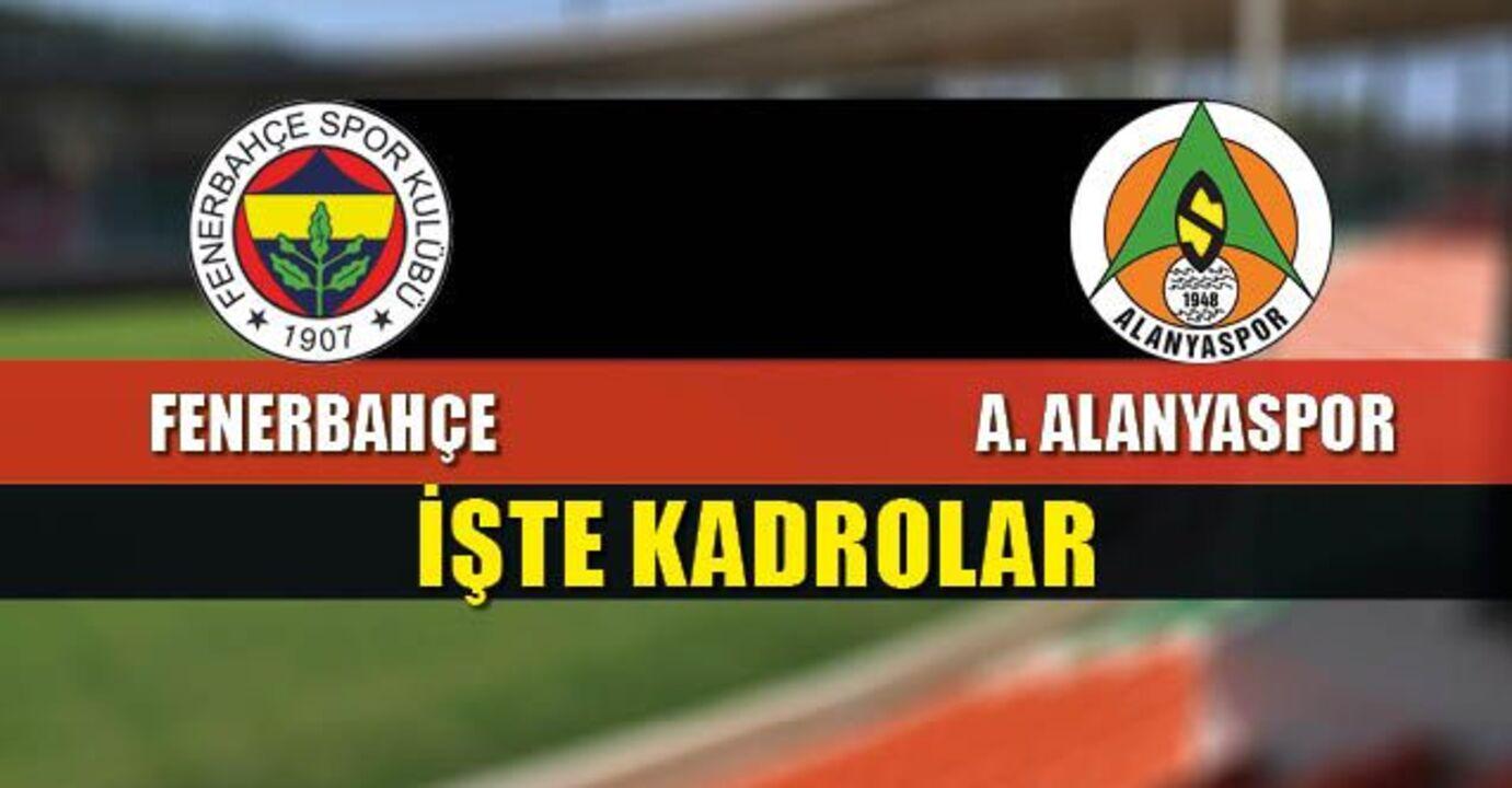 İşte Fenerbahçe'nin Alanyaspor kamp kadrosu , Mesut Özil ve Nazım kadroda