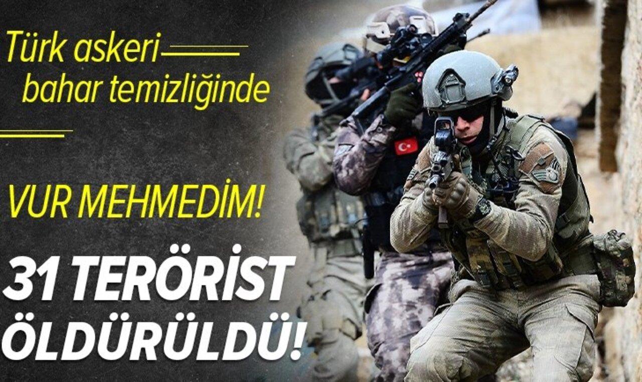 Sınır ötesi operasyonda 31 terörist etkisiz hale getirildi