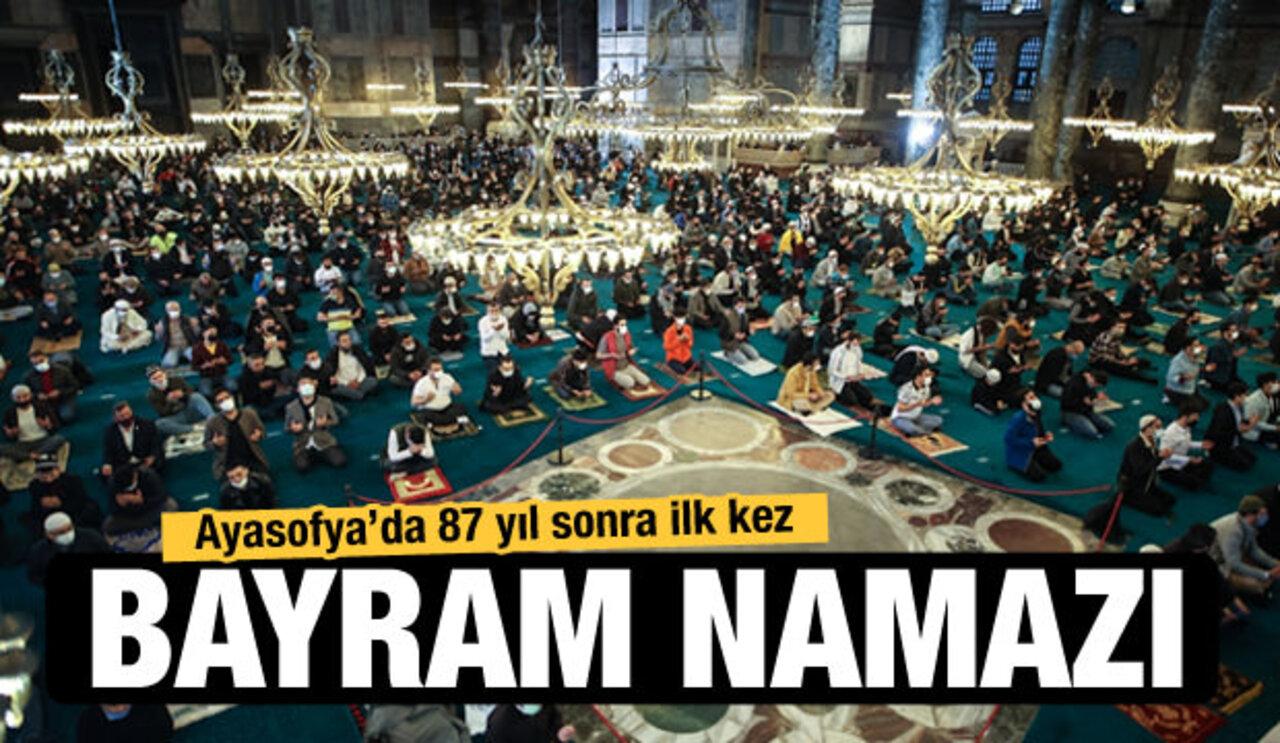 87 yıl sonra ibadete açılan Ayasofya Camii bayram coşkusu yaşadı!