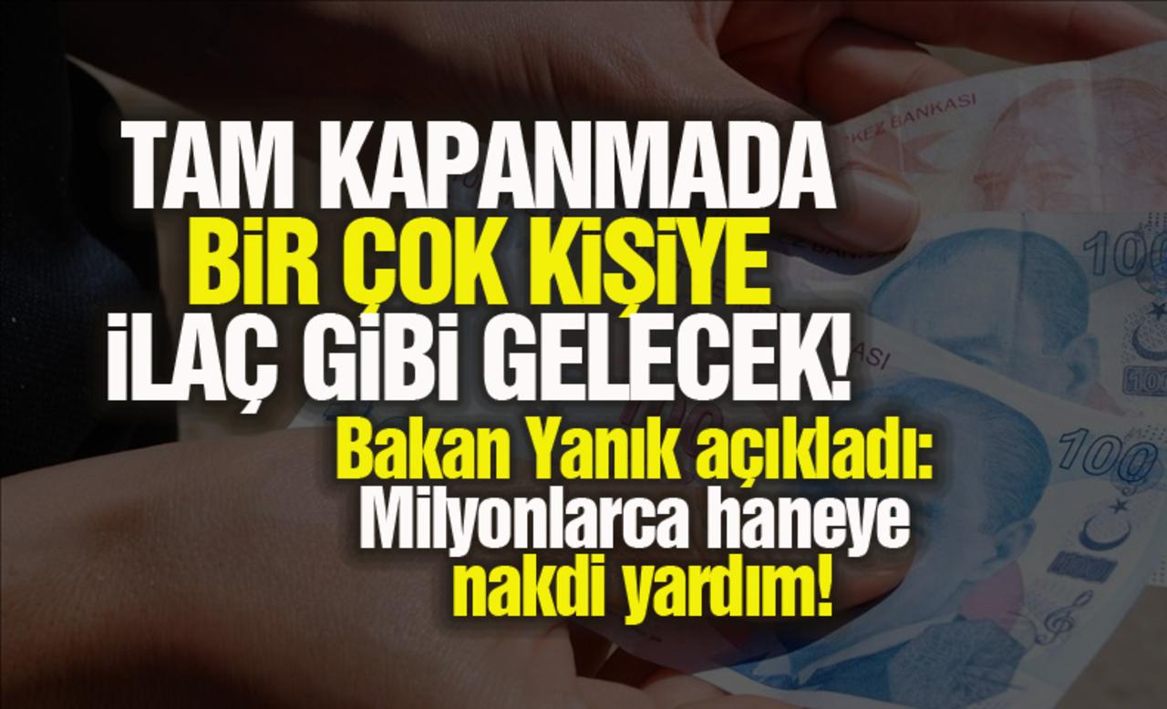 Aile ve Sosyal Hizmetler Bakanı Derya Yanık'tan açıklama! 2 milyondan fazla haneye 1.100 TL ödeme yapılacak