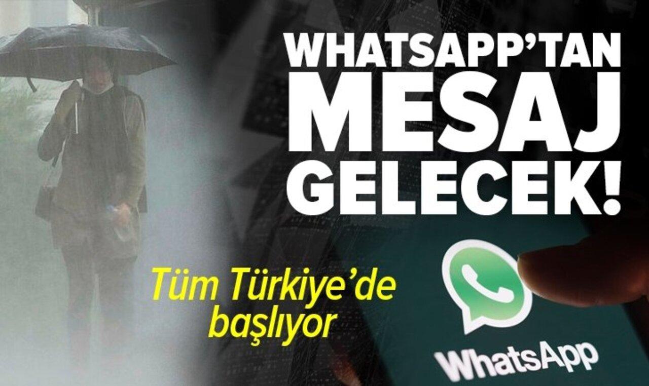 Ani meteorolojik hareketler için WhatsApp'tan erken uyarı sistemi!