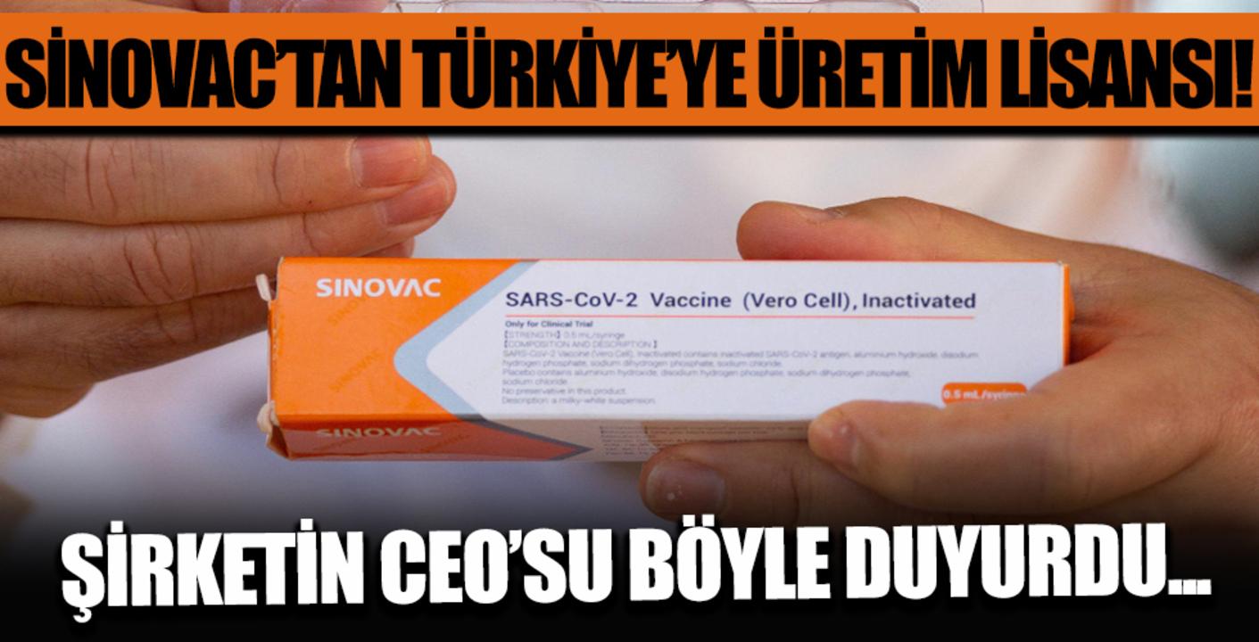 Çin menşei Sinovac aşısı Türkiye'de üretilecek