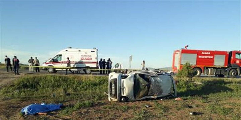 Çorum'da feci kaza! Yola fırlayan fırlayan sürücü öldü