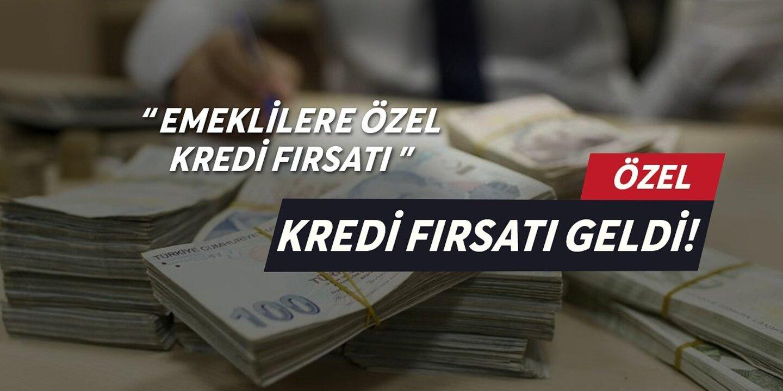 Emeklilere 5 bin TL kredi fırsatı