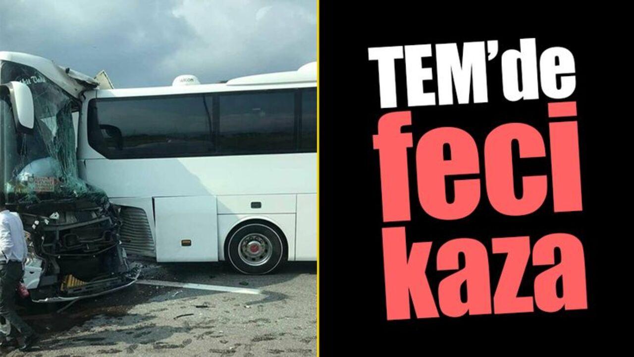 İzmit'te iki yolcu otobüsünün çarpışmasıyla 8 kişi yaralandı