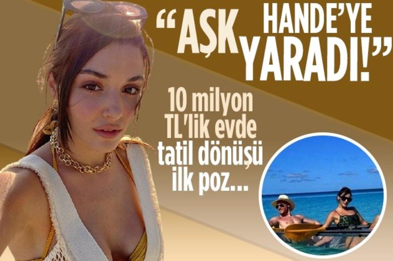 Maldivler tatilinden dönen Hande Erçel'in son pozu 'Aşk yaramış' dedirtti!