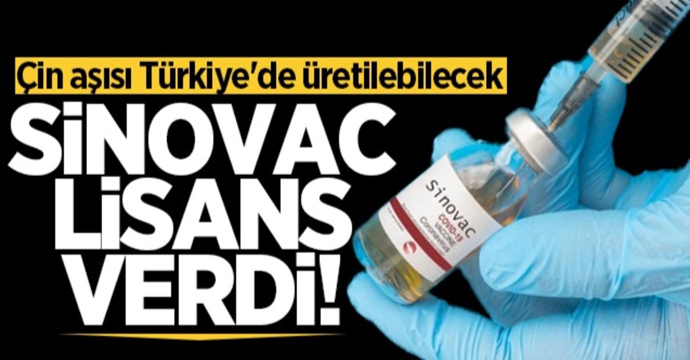 Sinovac şirketi aşı üretimi için Türkiye'ye tam yetki verdi