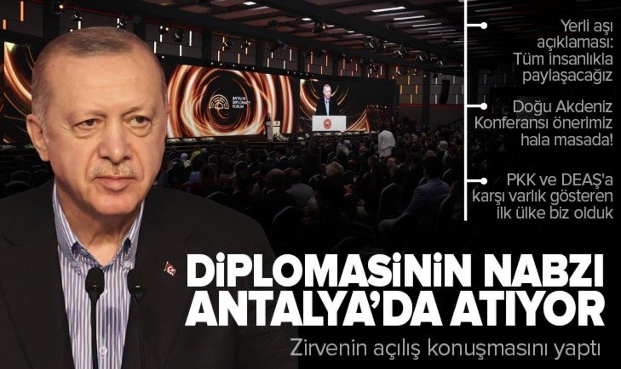 Cumhurbaşkanı Erdoğan Antalya Diplomasi Forumu'nda gündeme dair konuşmada bulundu!