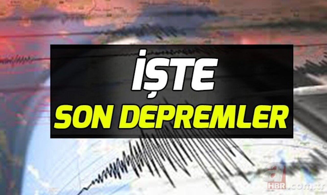 17 Haziran son depremler AFAD- KANDİLLİ deprem listesi