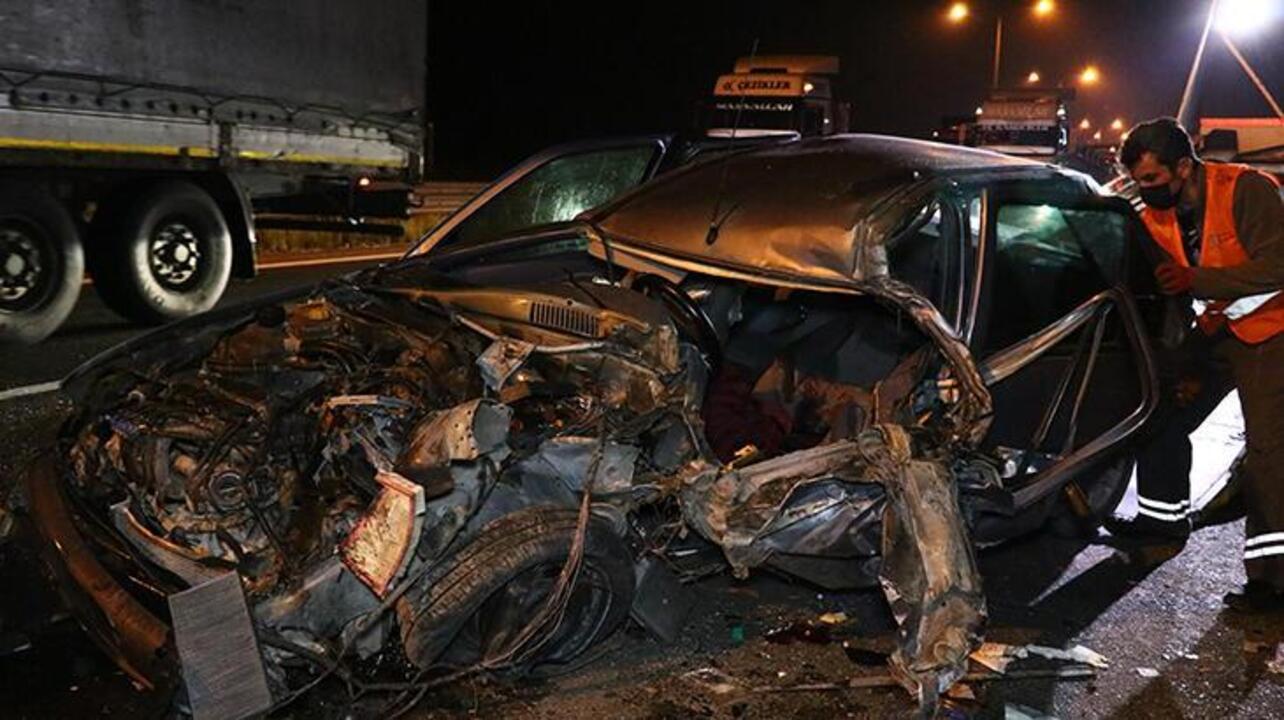 Bolu'da kamyonet ve otomobil çarpıştı: 2 yaralı