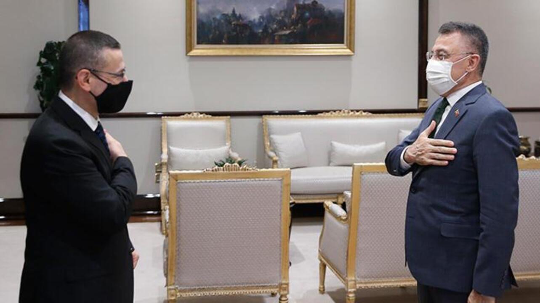 Cumhurbaşkanı Yardımcısı, Sayıştay Başkanını kabul etti!