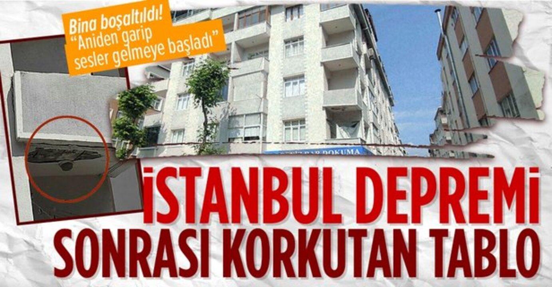Güngören'de bir dairenin balkonunda çökme yaşandı, bina boşaltıldı