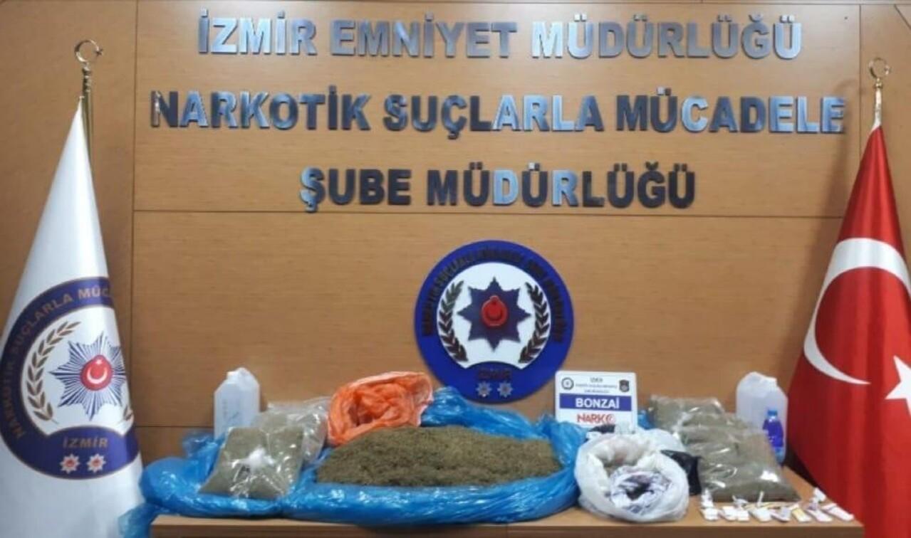 İzmir'de yürütülen uyuşturucu operasyonunda 15 kişi tutuklandı