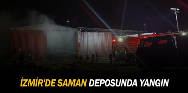 İzmir'in saman deposunda yangın!