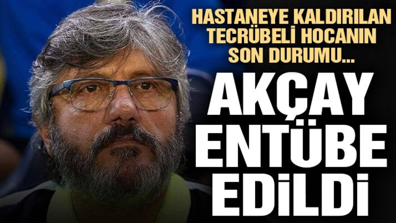 Kocaelispor'un teknik hocası Mustafa Reşit Akçay, entübe edildi!