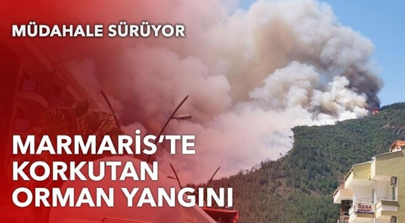 Marmaris alev alev yanıyor! Çok sayıda ekip yangın alanında..