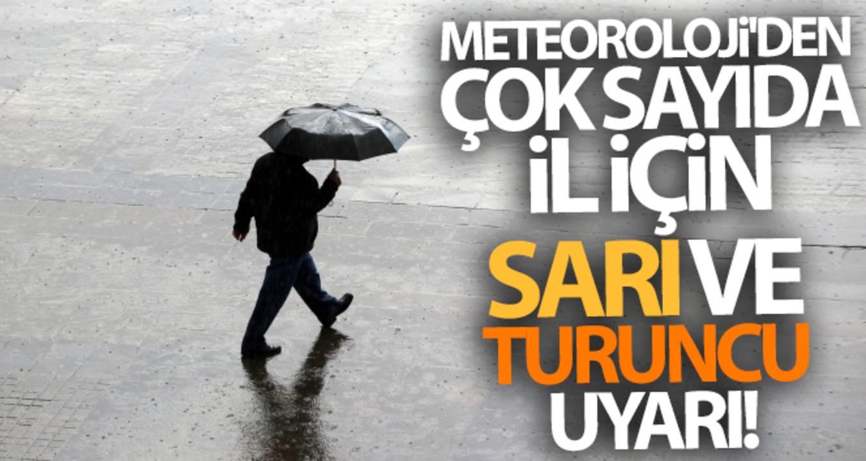 Meteoroloji bir çok ili uyardı! sarı ve turuncu uyarı verildi