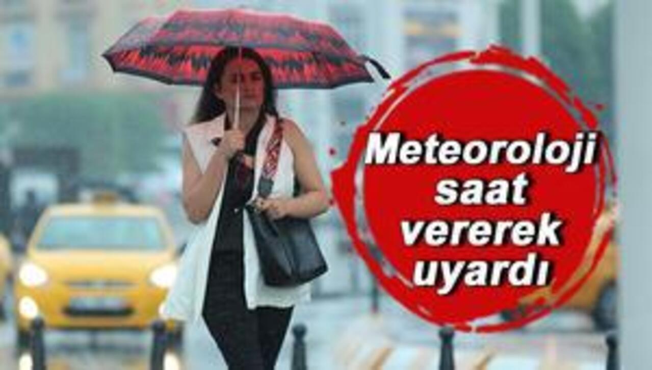 Meteoroloji İstanbul ve Trakya'yı uyardı! çok kuvvetli yağış var!