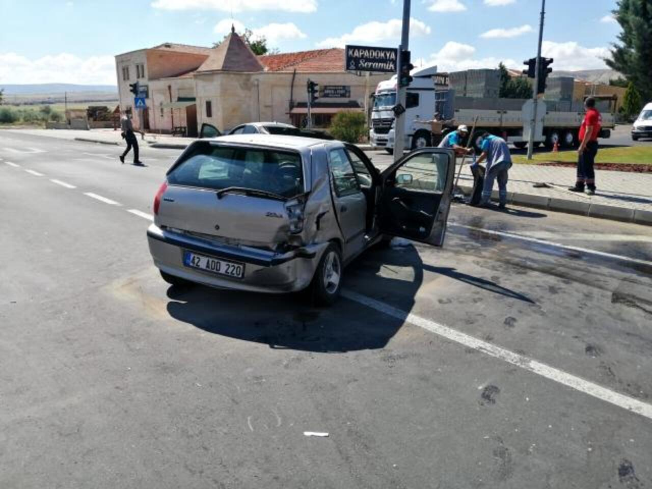 Nevşehir'de otomobiller çarpıştı: 6 yaralı!