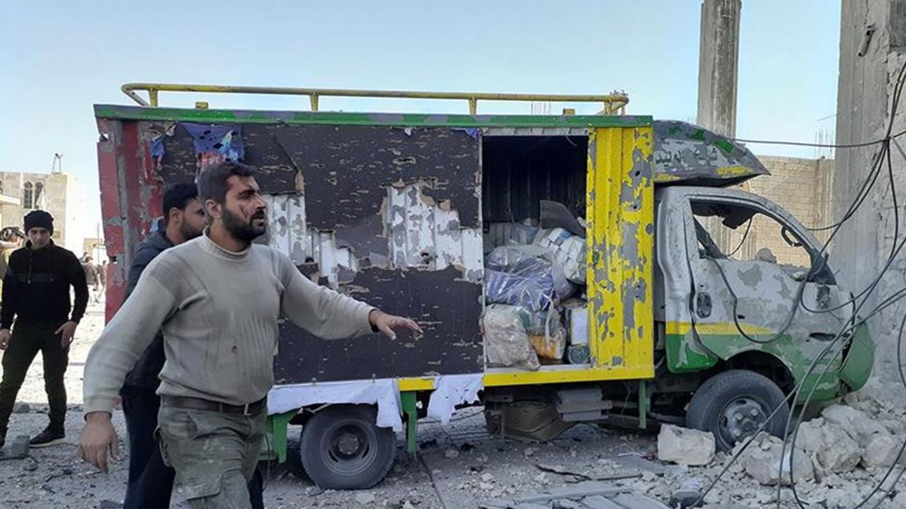 Suriye Bab'da bombalı araç infilak ettirildi: 1 ölü, 2 yaralı