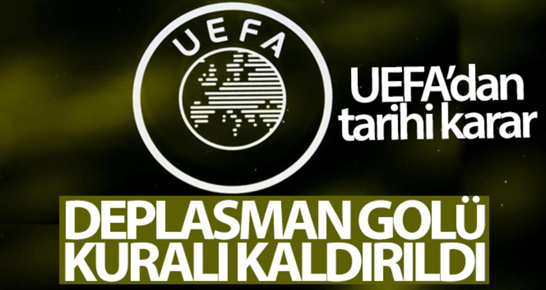 UEFA'dan 'deplasman golü' kuralını kaldırdı!