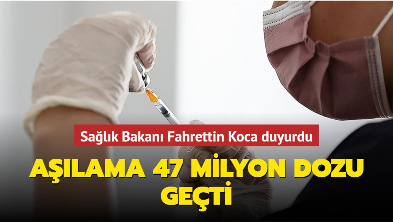 Yapılan toplam aşı sayısı açıklandı!