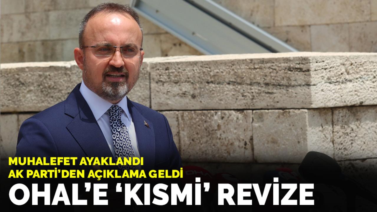 AK Parti OHAL yetkisinde gözaltı sürelerini 1 yıla düşürme teklifi sundu!