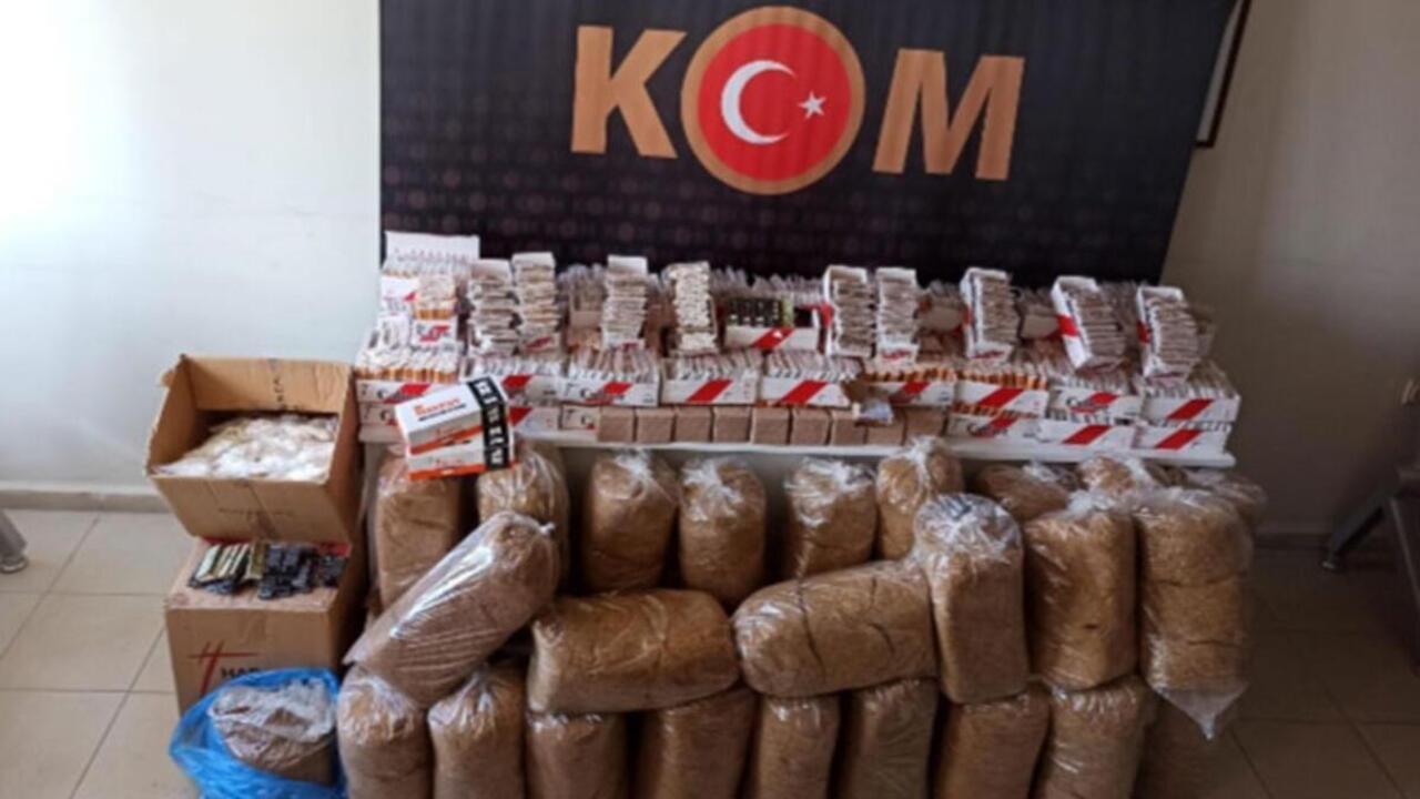 Aydın Nazilli'de sigara kaçakçılarına büyük darbe