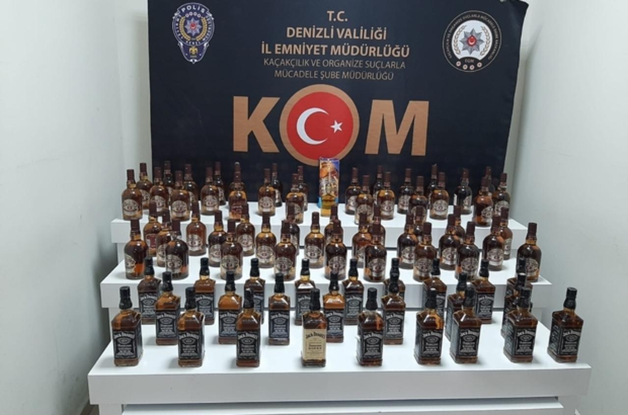 Denizli'de kaçak tütün ve sahte alkol operasyonu: 10 gözaltı