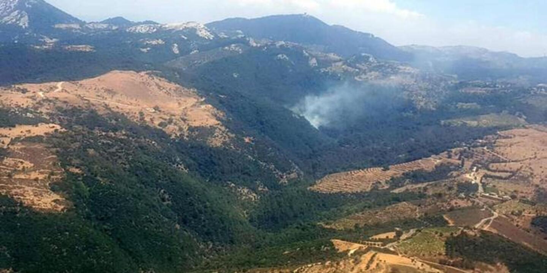 İzmir Güzelbahçe'de orman yangını