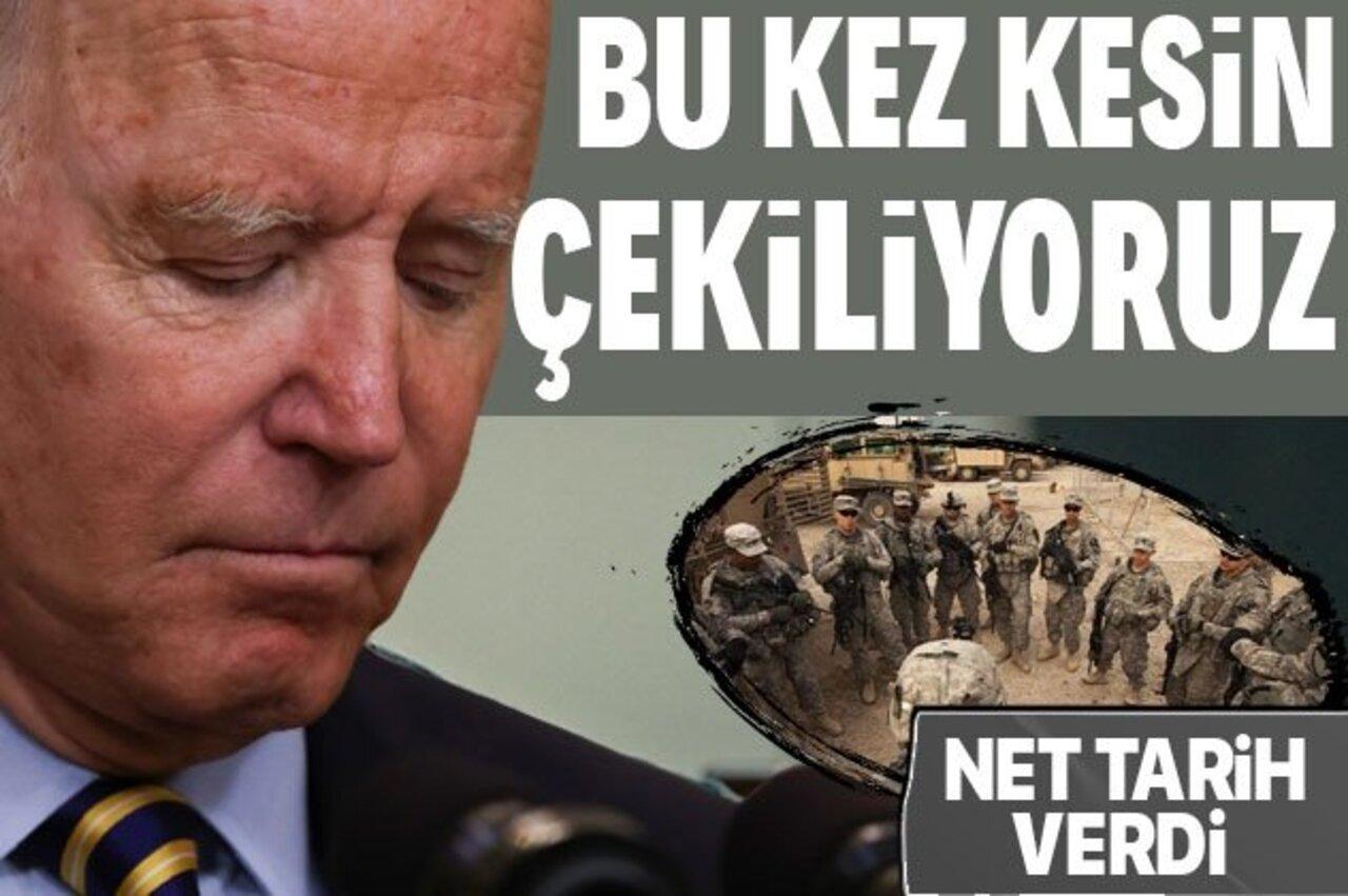 Joe Biden, Afganistan'dan çekilmek için ilan ettikleri tarihi öne çekti!