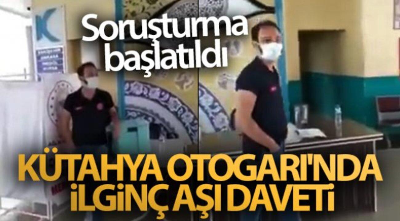 Kütahya'da sağlık personelinin aşı davetine soruşturma açıldı!