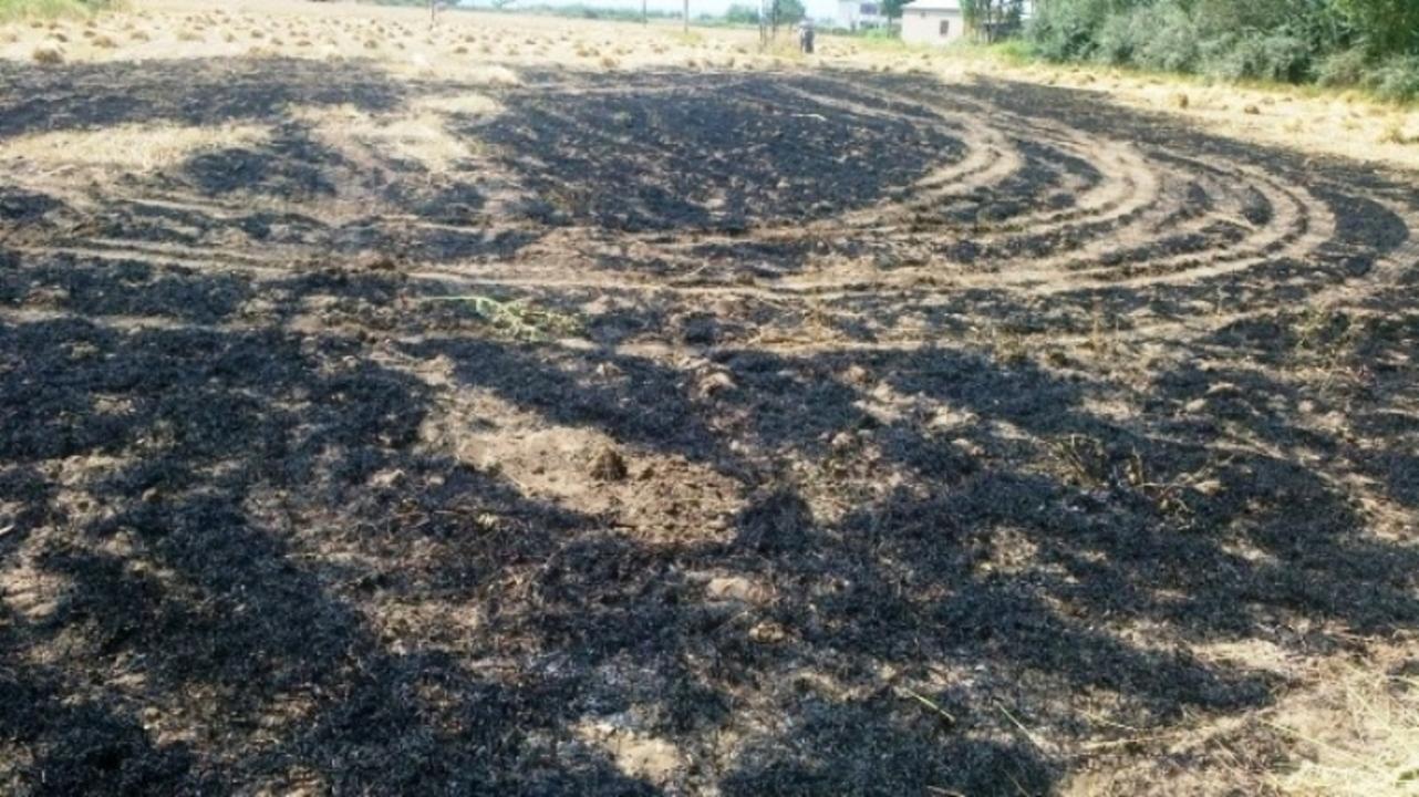 Van'da 3 dönümlük buğday tarlasında yangın çıktı